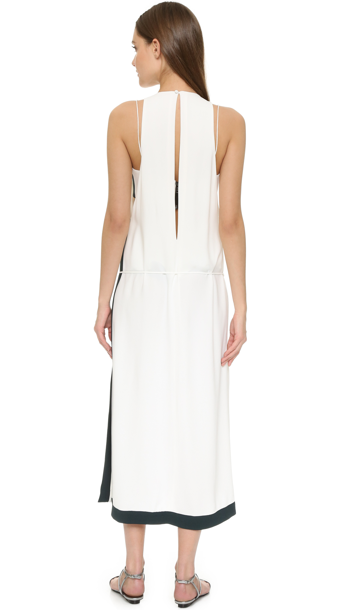 Lyst - Josh Goot Split Long Line Dress in White