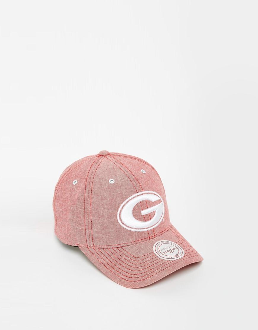 2e97e82e7f2 Mitchell   Ness Georgia Bulldogs Cap Exclusive To Asos in Red for ...