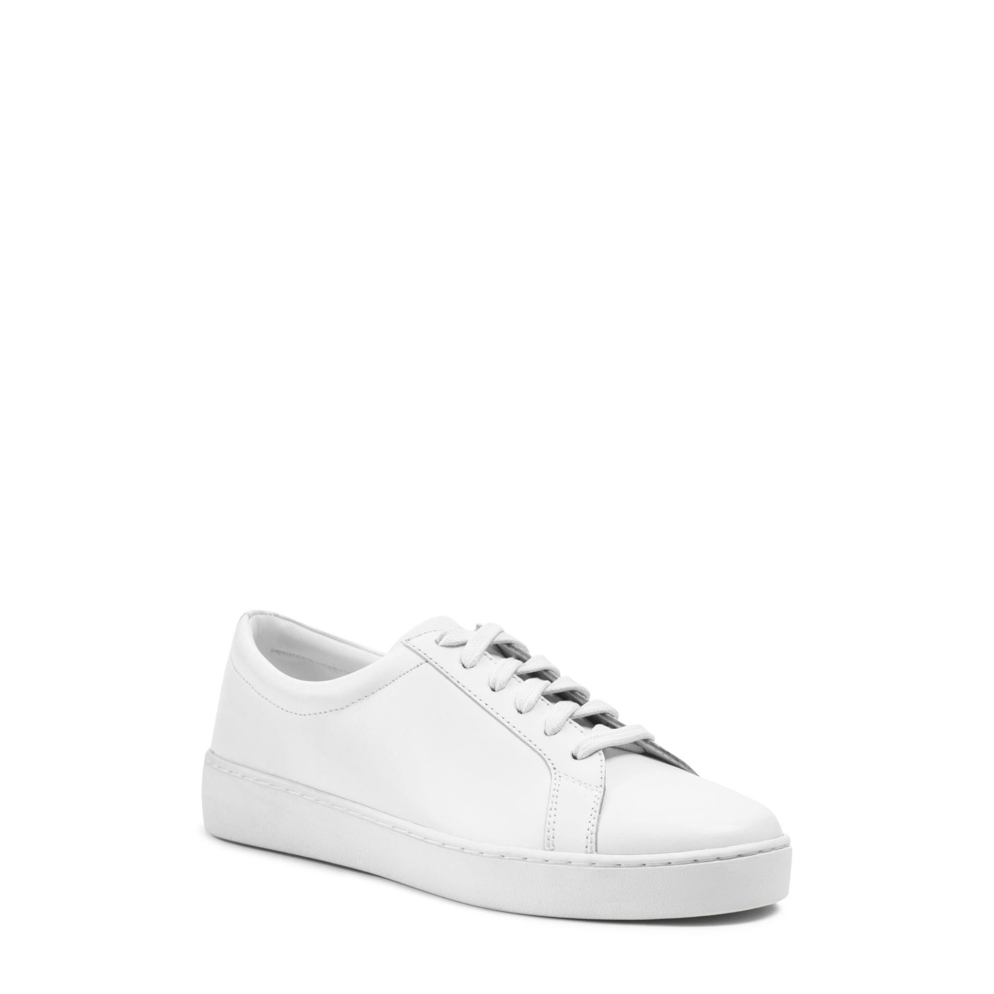 michael kors valin vachetta leather sneaker in white for. Black Bedroom Furniture Sets. Home Design Ideas
