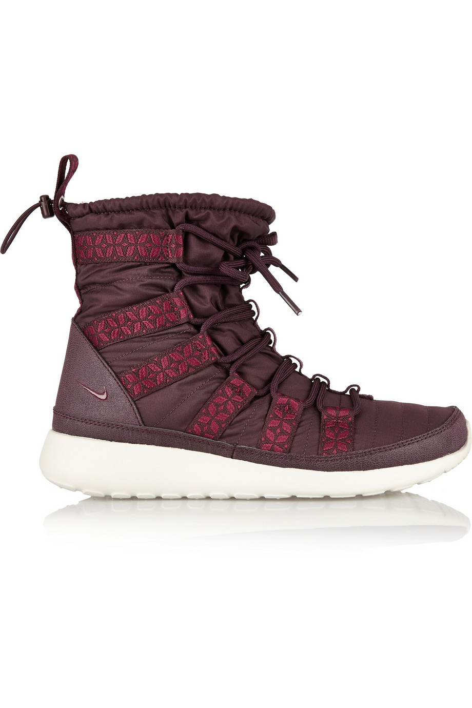 96e04b1f013c ... Suede Sneaker Boots ZX1219 Lyst - Nike Roshe Run Hi Shell Sneaker-Style  Boots in Red ...