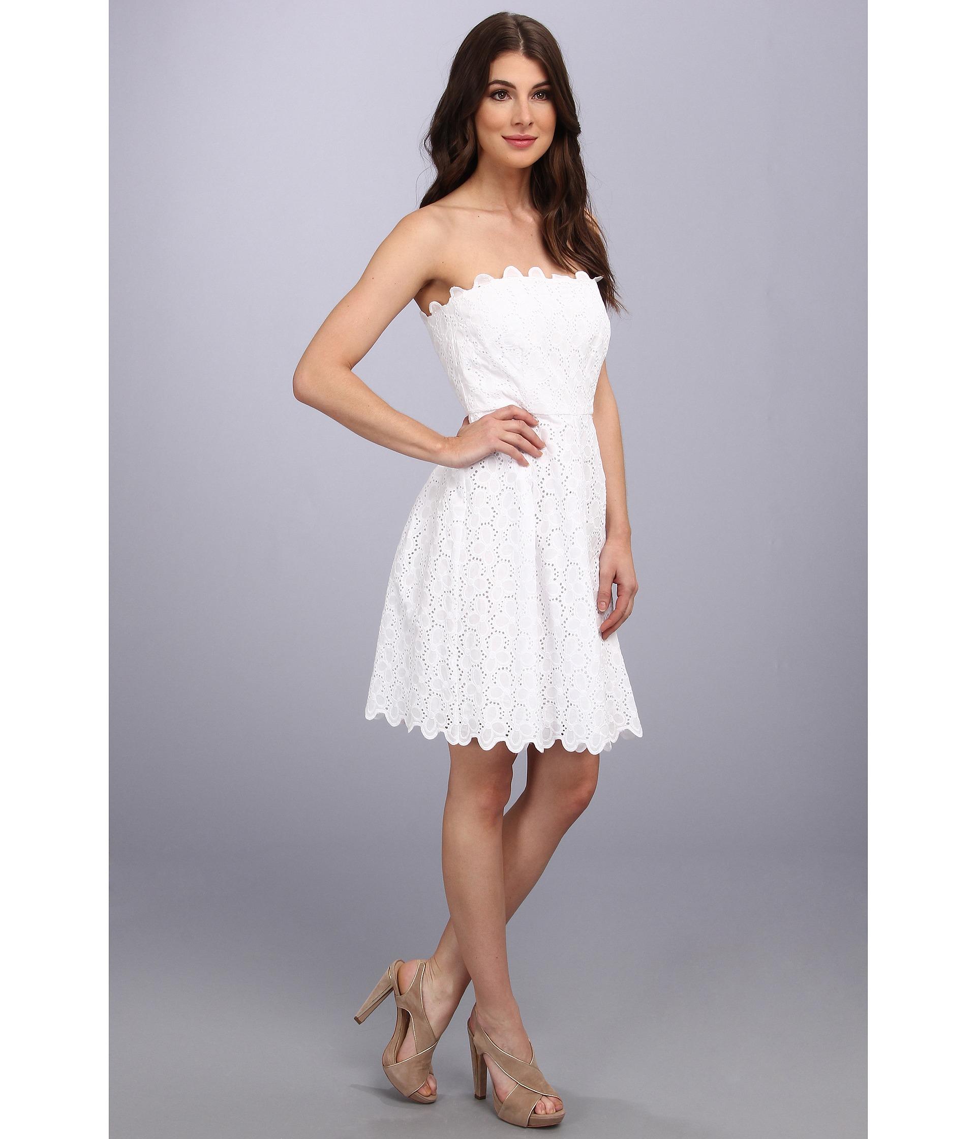 Laundry by shelli segal Strapless Eyelet Dress Graduation in White ...