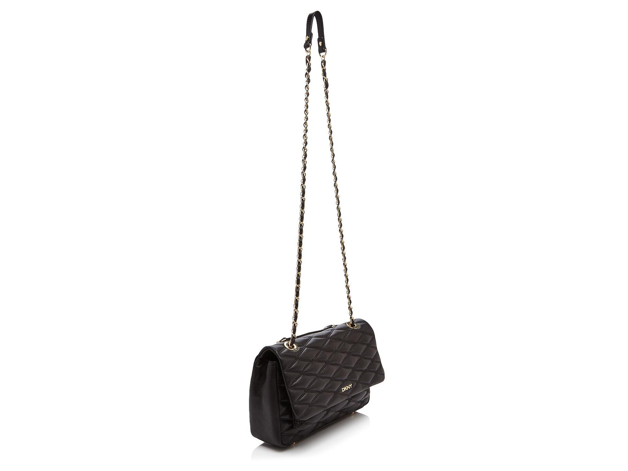 Dkny Gansevoort Quilted Nappa Flap Pocket Shoulder Bag in Natural ... : dkny quilted shoulder bag - Adamdwight.com
