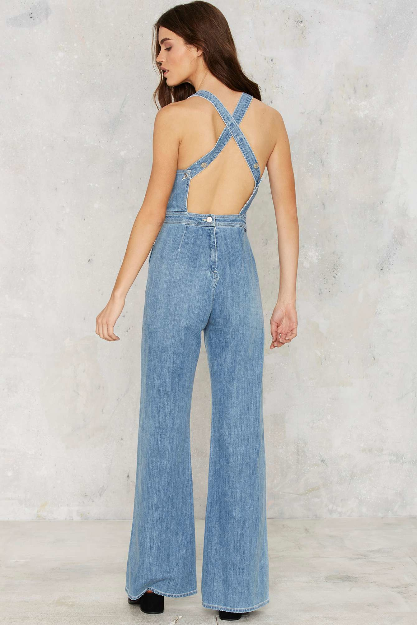 57078aff427 Lyst - Citizens of Humanity Katie Denim Overalls in Blue