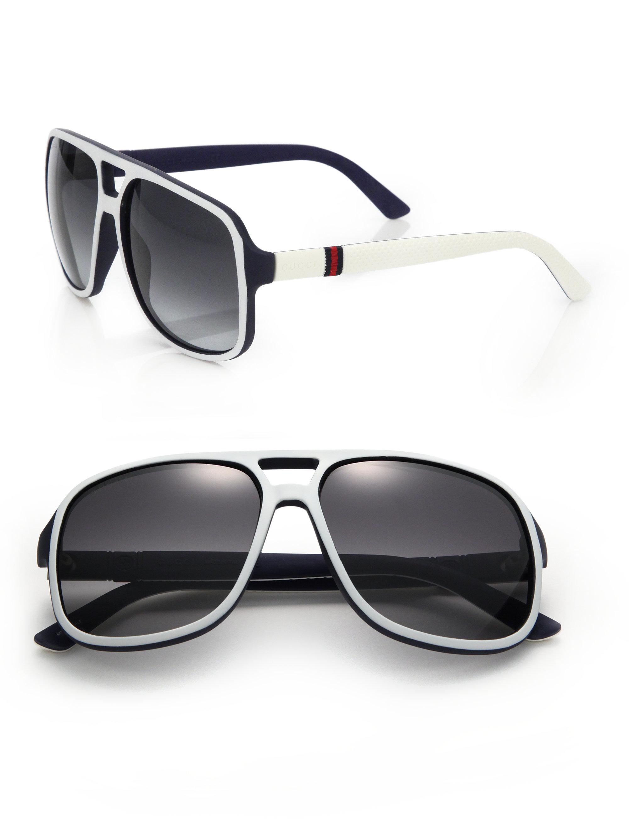c5660ae9e77 Lyst - Gucci 1115 s 59mm Mirror Aviator Sunglasses in Black for Men