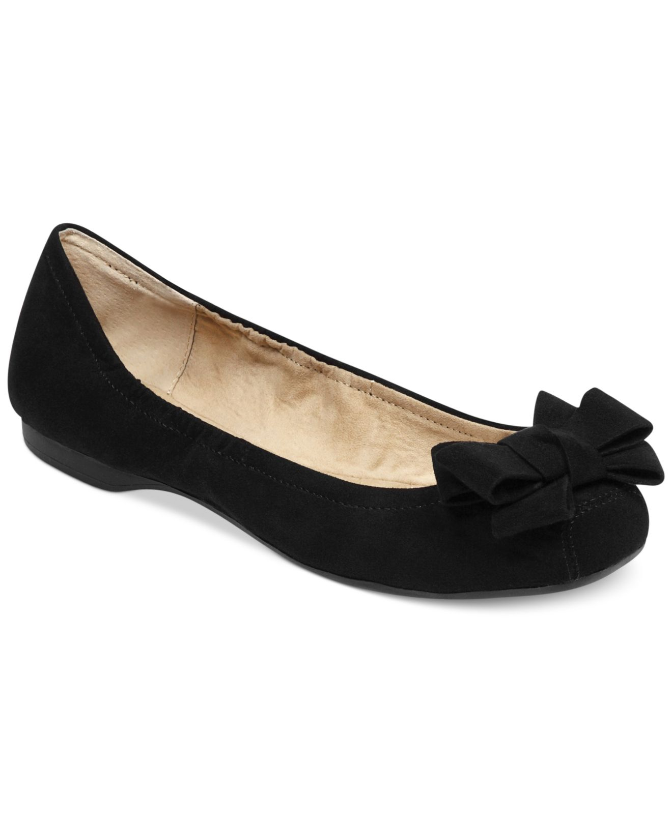 bdc8179361b2 Lyst - Jessica Simpson Milee Bow Flats in Black