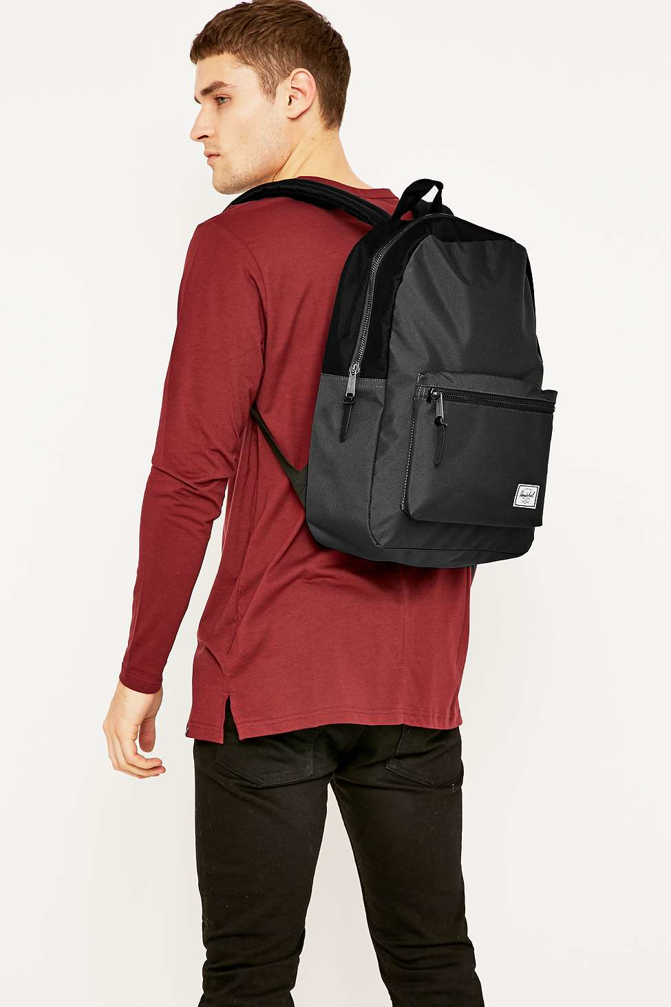 4cd4383dc63 Herschel Supply Co. Settlement Charcoal And Black Backpack in Gray for Men  - Lyst