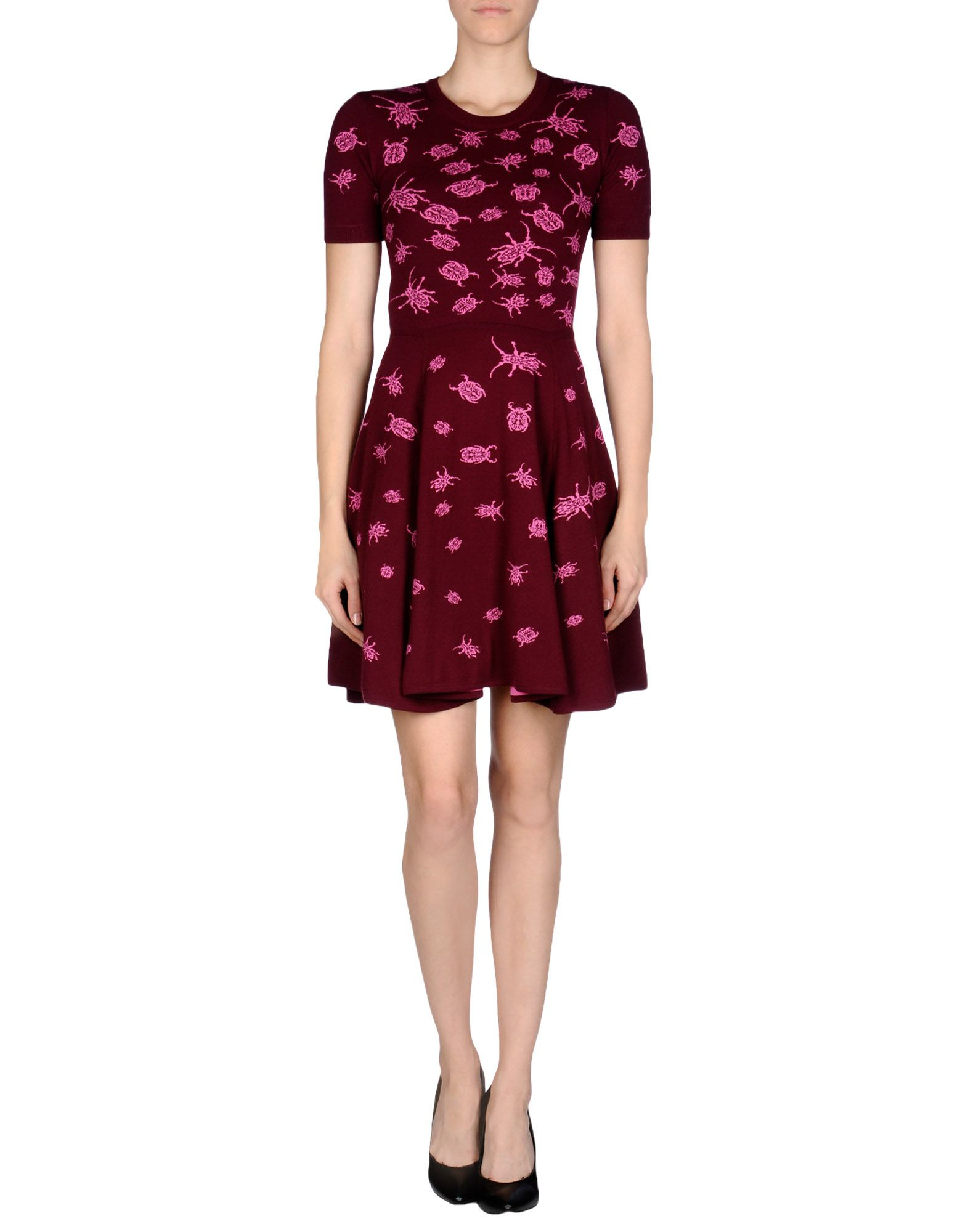 Lyst Mcq Short Dress In Purple