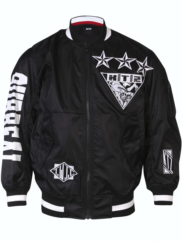 Ktz Kokon To Zai Black Varsity Bomber Jacket in Natural ...