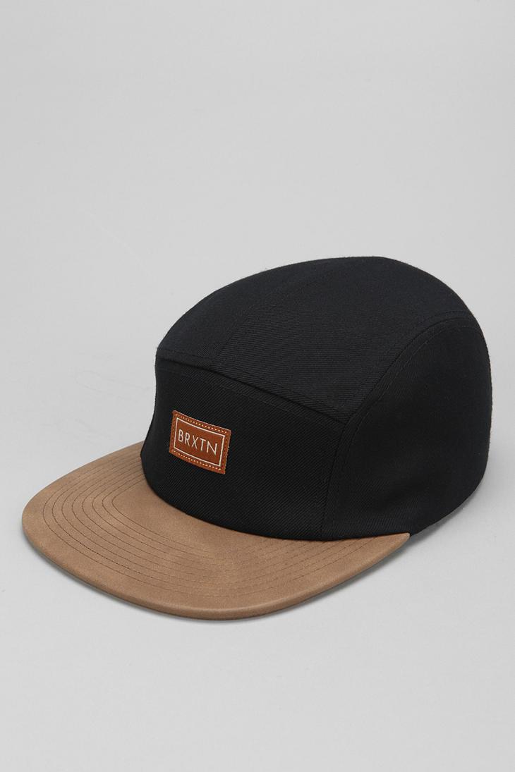 Lyst - Brixton X Uo Creek 5-panel Hat in Black for Men fbd264a5f6b