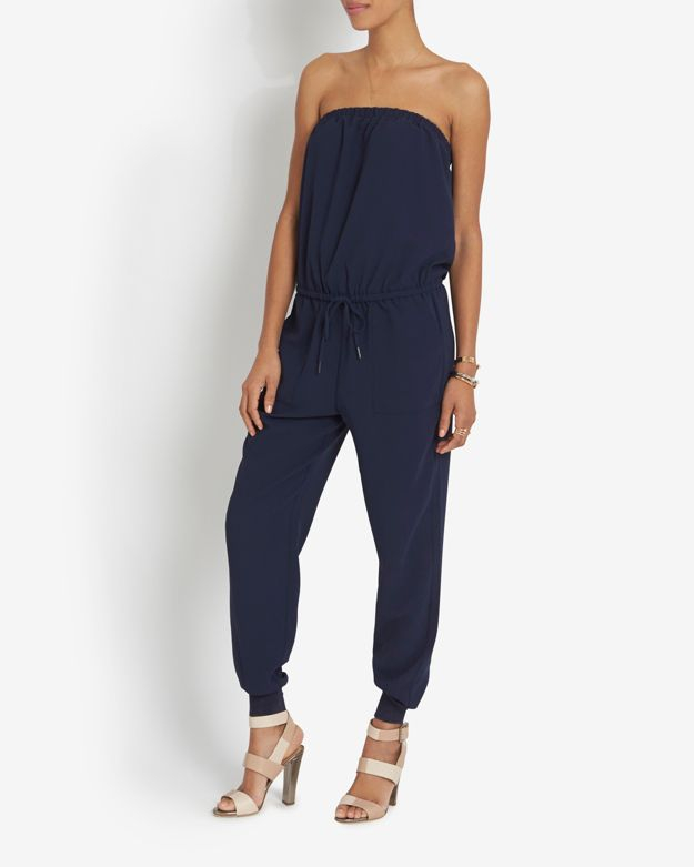 0fe4638f8a2c Lyst - Joie Strapless Jumpsuit  Navy in Blue