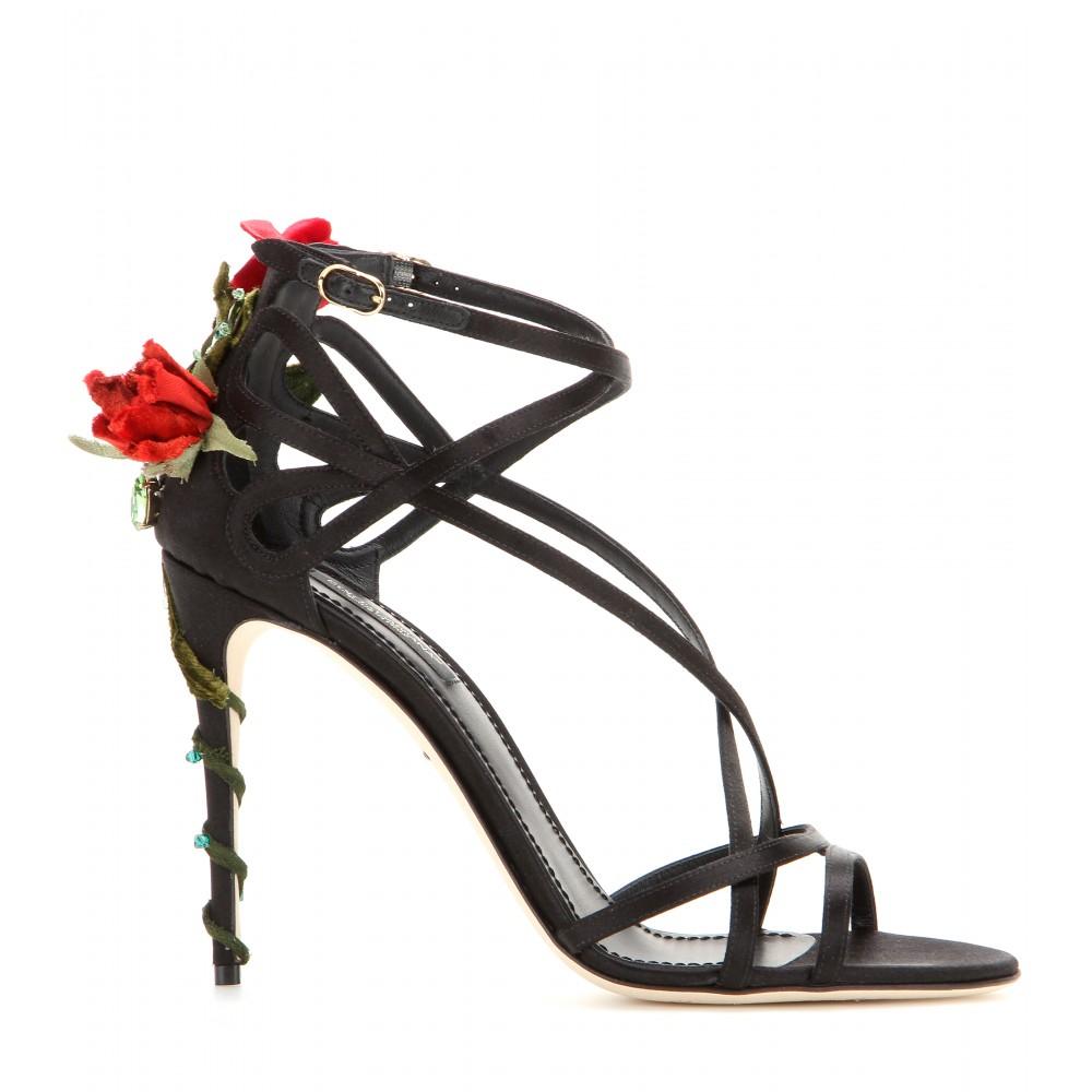 Dolce & Gabbana Embellished satin sandals jMaK4inH