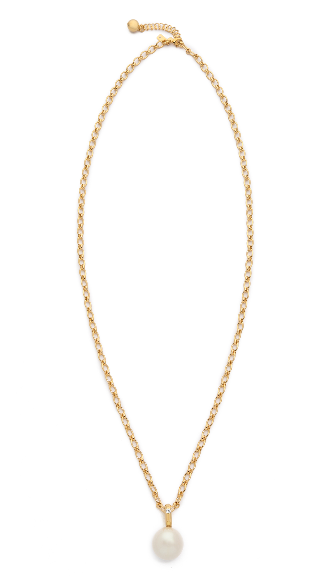Kate spade new york Pearly Delight Long Pendant Necklace - Cream Multi in Natural | Lyst