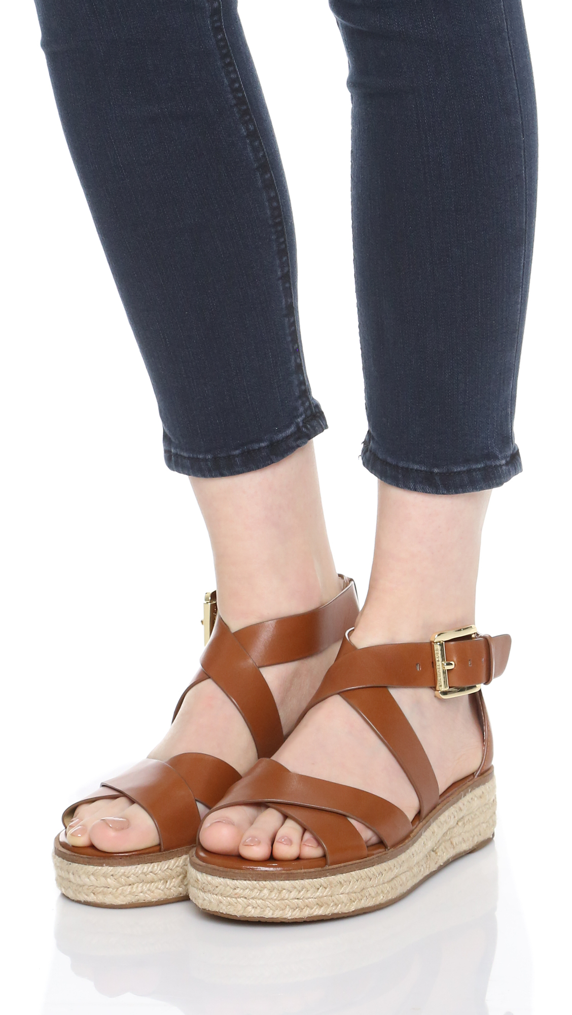 Michael Michael Kors Darby Sandals In Brown Lyst