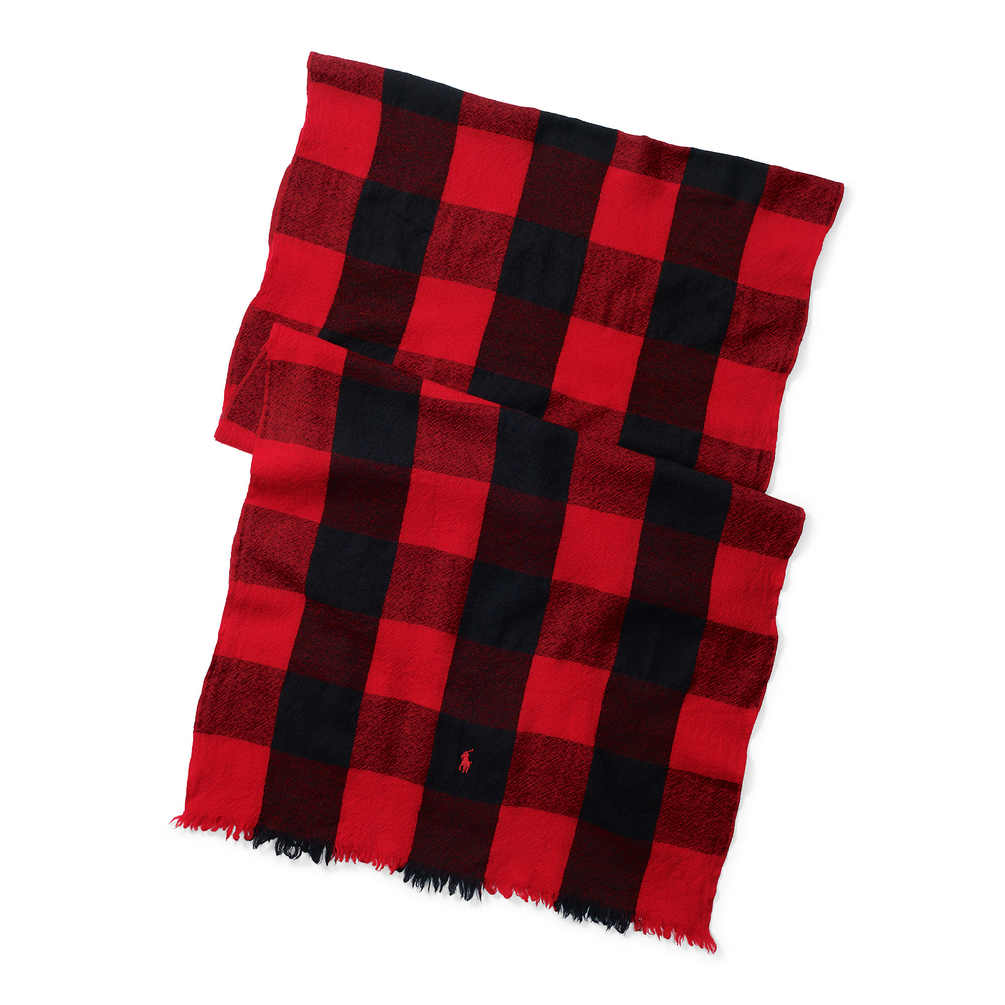 77747f671be ... hot lyst polo ralph lauren buffalo check wool scarf in red for men  75463 dca64