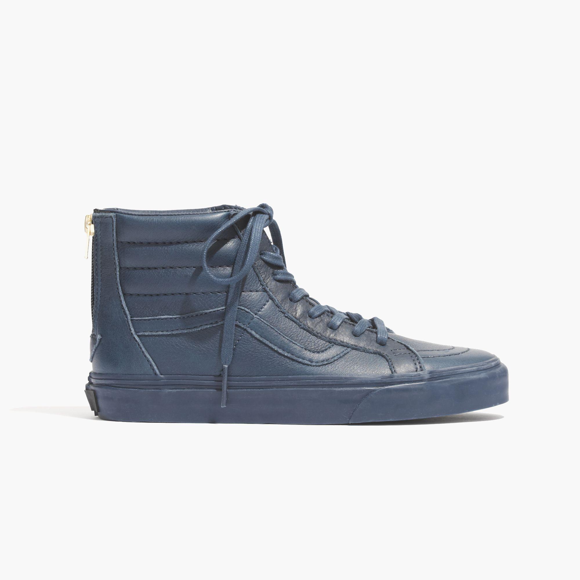 7281c7db7a Lyst - Madewell Vans Reg  Sk8-Hi Zip Tonal High-Top Sneakers In ...