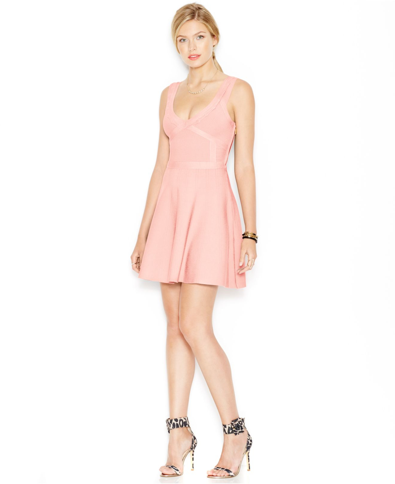 Pink Dress Guess