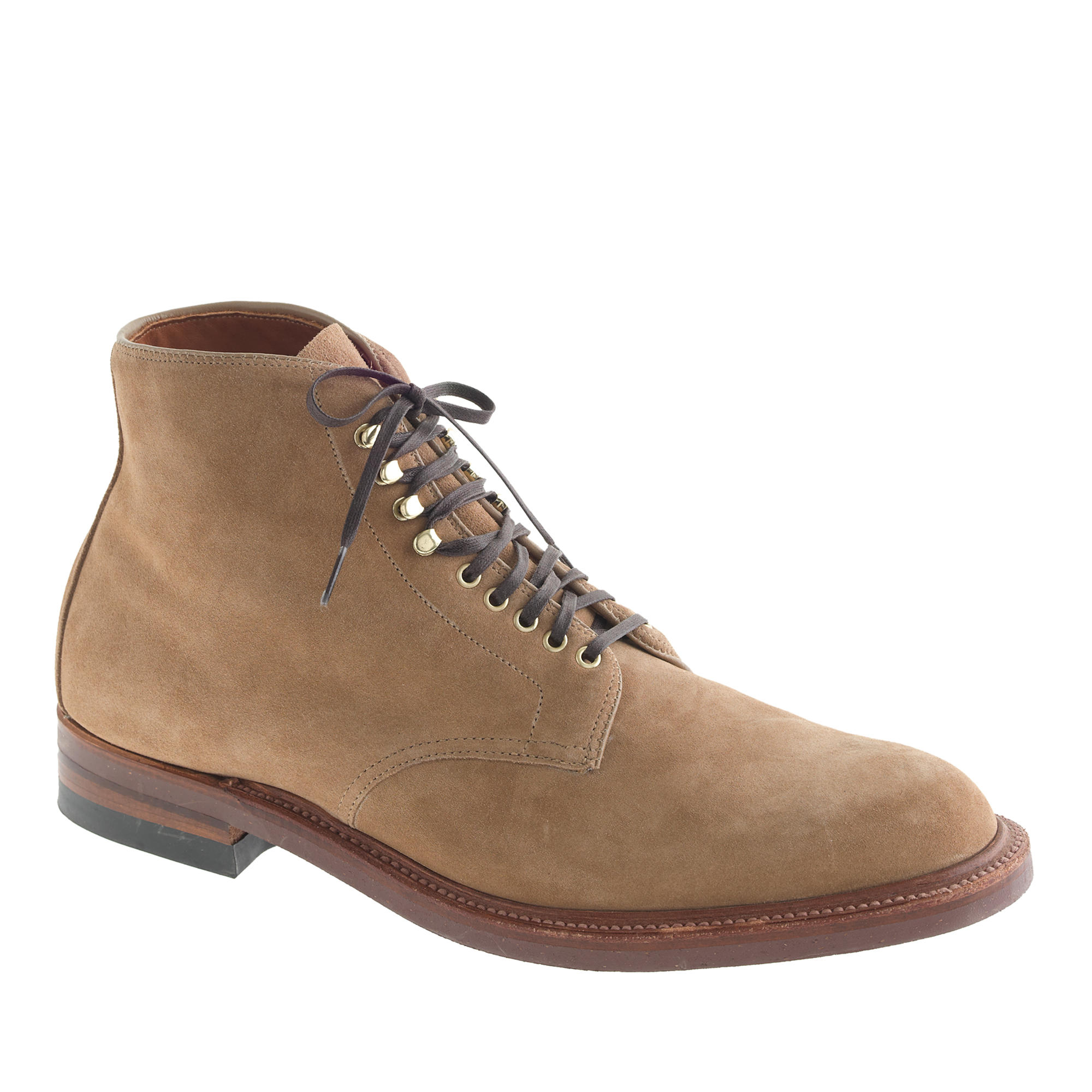 J Crew Boots In Camel Suede In Natural For Men Lyst