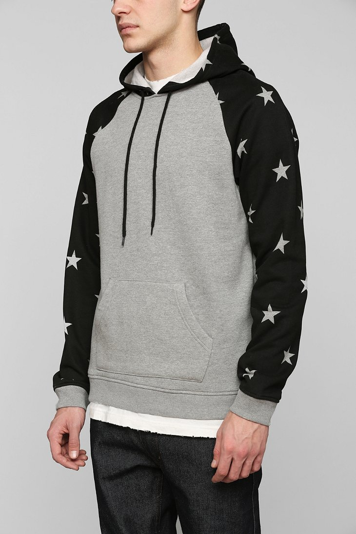 Bdg Stars Pullover Hoodie Sweatshirt in Black for Men | Lyst