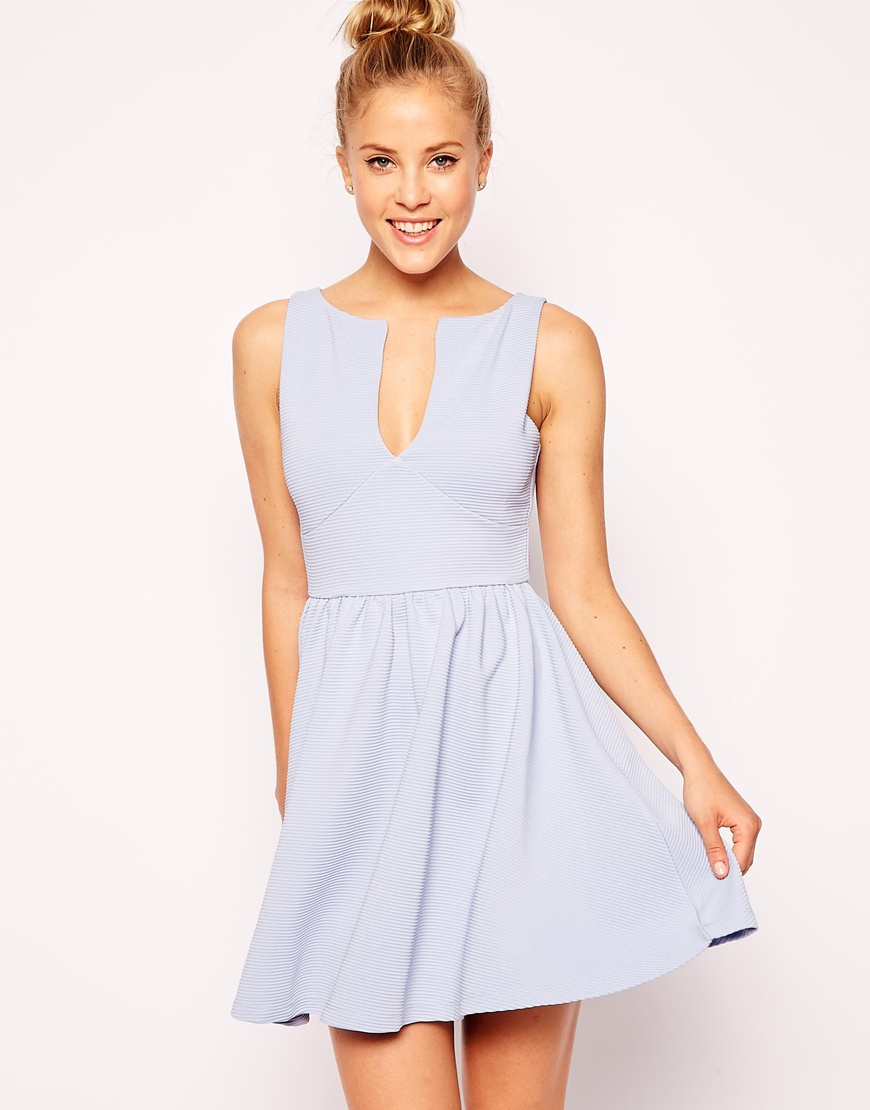 0a682342b3 Sleeveless Skater Dress Blue Cocktail – Dresses for Woman