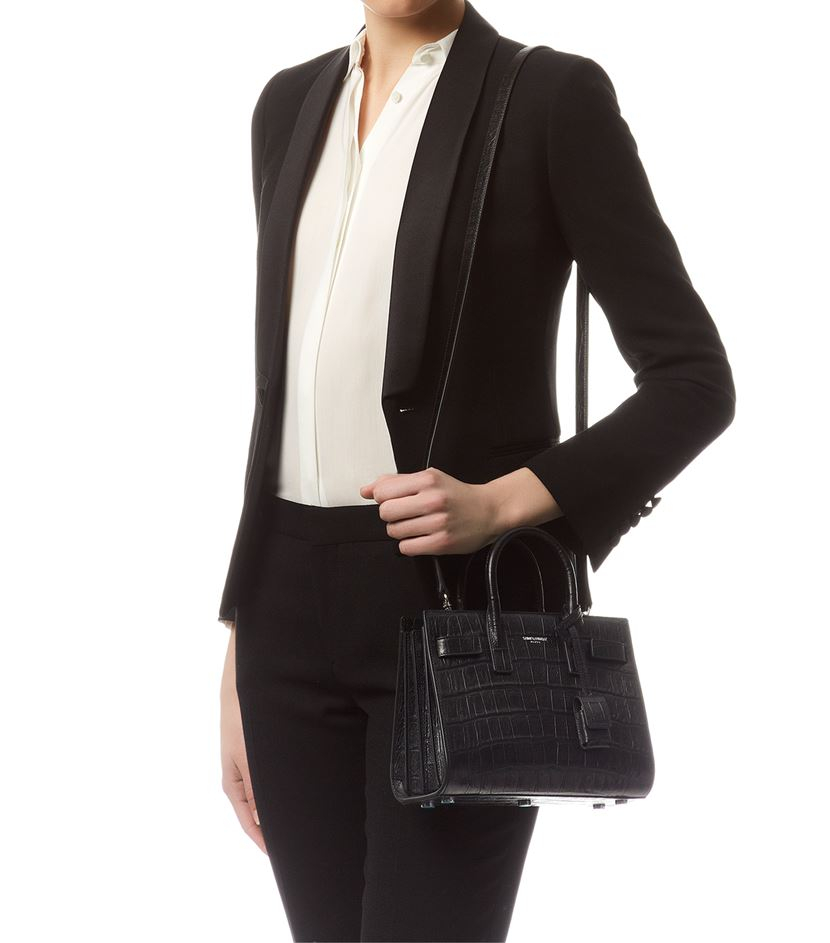 y handbags - classic nano sac de jour bag in black leather