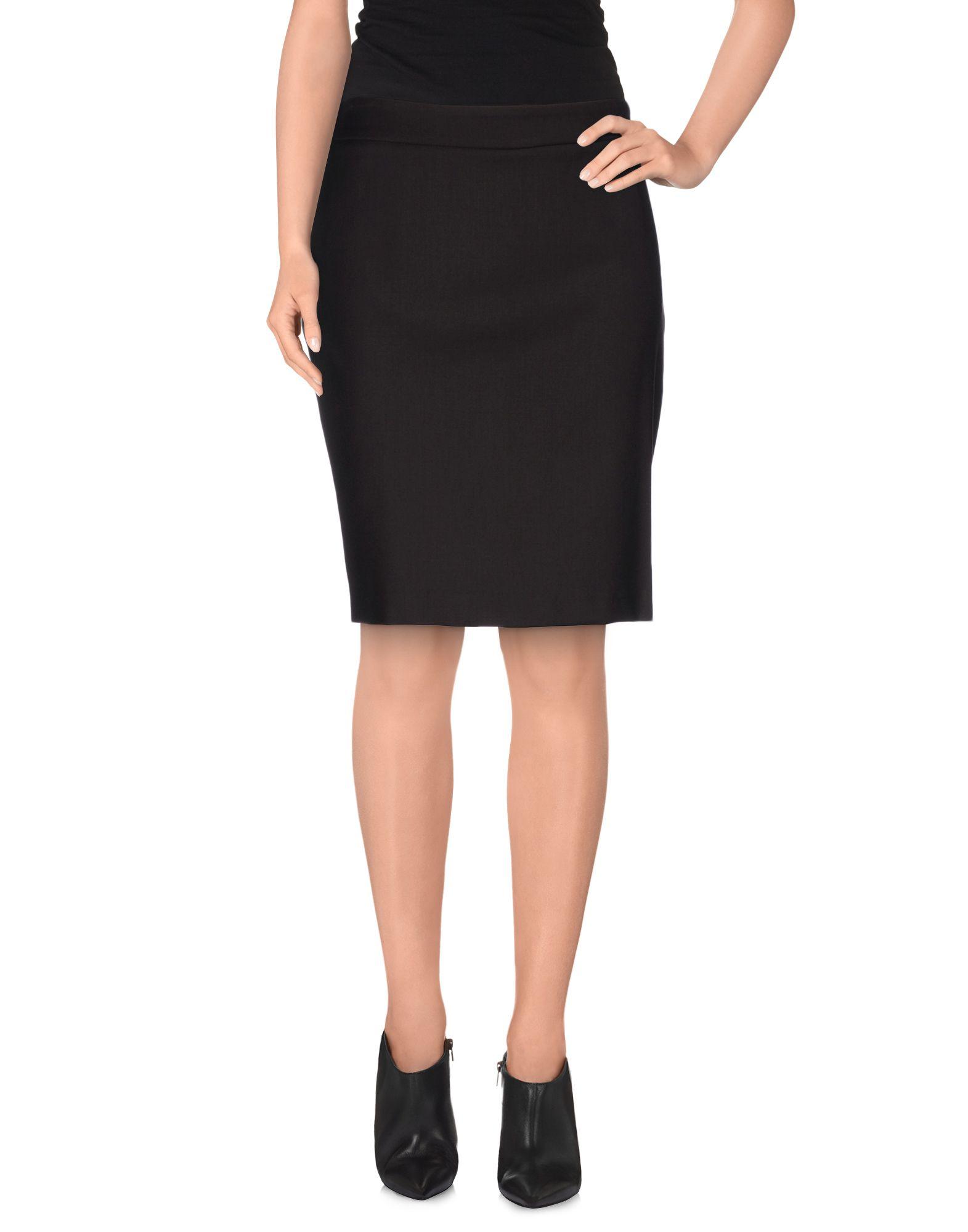 divina knee length skirt in brown brown save 51