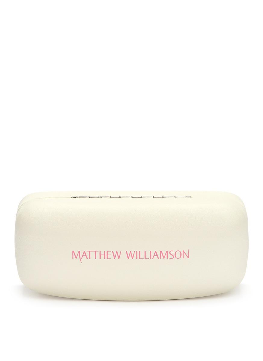 aec889ec7b4 Lyst - Matthew Williamson X Linda Farrow Leaf Cutwork Clip-on ...