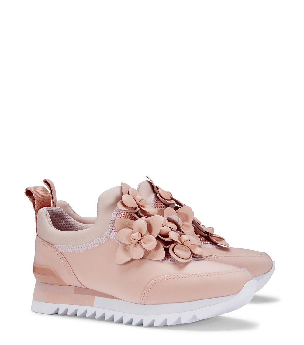 638048eb85c Lyst - Tory Burch Blossom Sneaker in Pink