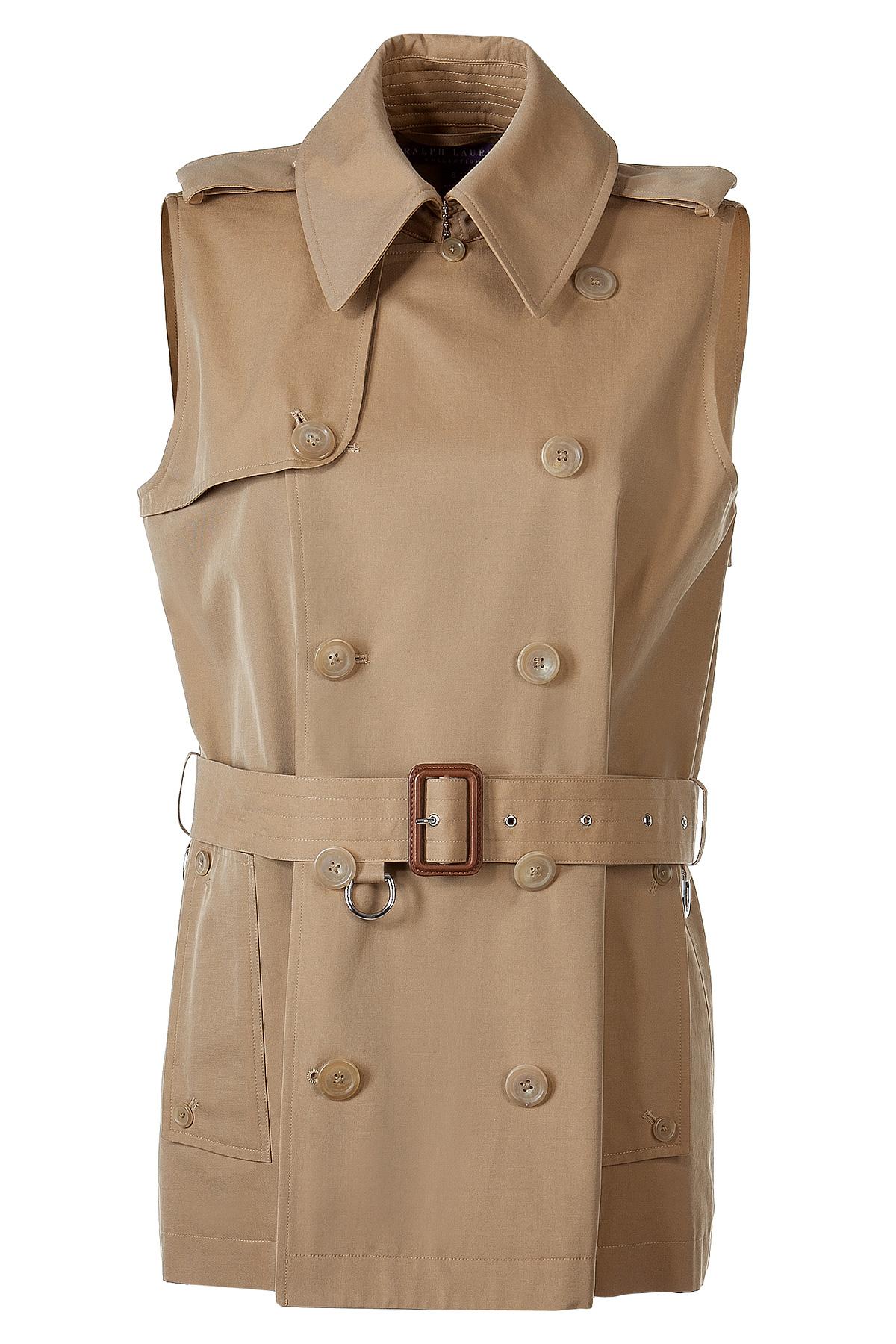 Ralph Lauren Collection Vintage Khaki Sleeveless Trench