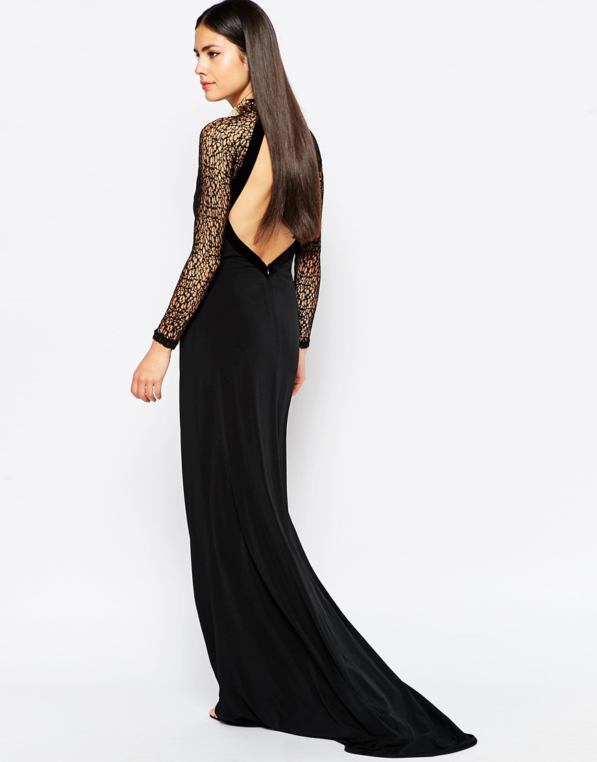 8aaa64be0f Lyst - Forever Unique Marissa Maxi Dress With Embellished Necklace ...