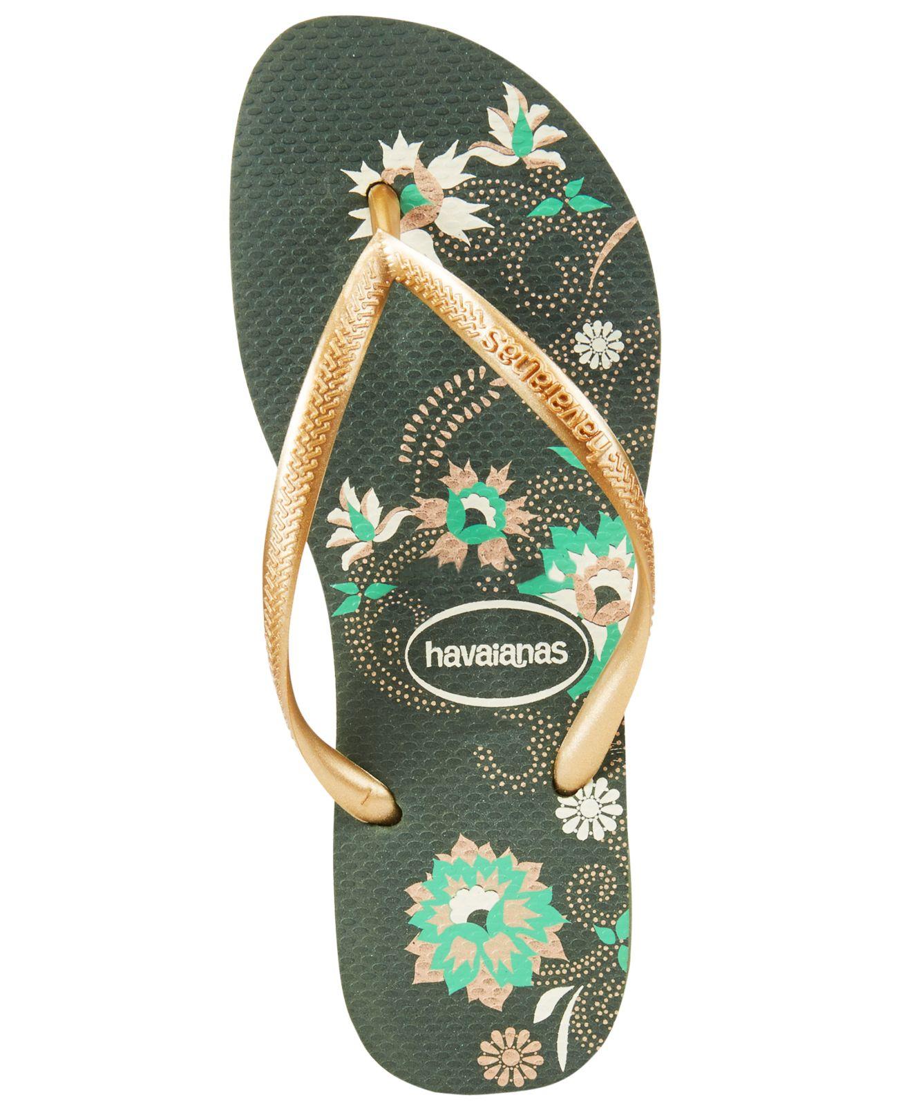 Havaianas Womens Slim Organic Flip-Flop Sandals In Black -2068
