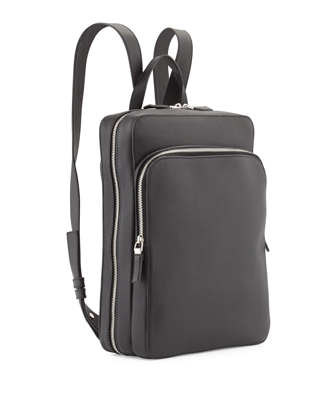 cbcb924504e1 ... coupon code for lyst prada calfskin slim backpack with zip closures in  black for men 1beac