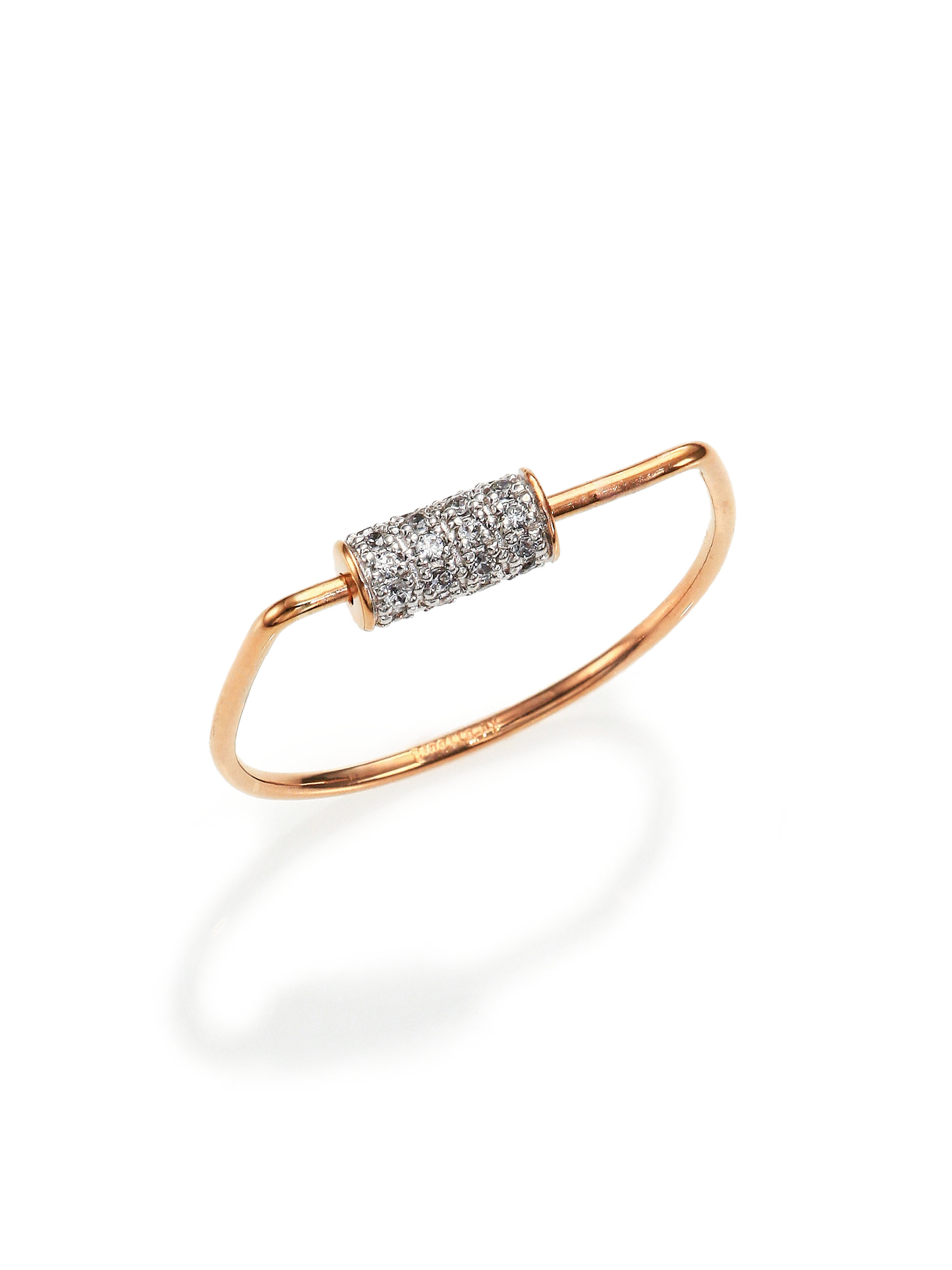 Ginette NY Diamond Wise 18-karat rose gold ring AtvrEttuBj