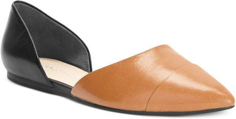 Franco Sarto Hawk Two Piece Flats in Black (Black Camel) - Lyst
