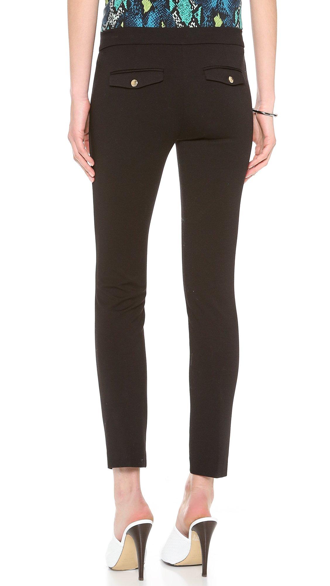 juicy couture ponte crop pants in black lyst. Black Bedroom Furniture Sets. Home Design Ideas