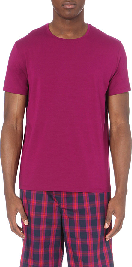 Derek Rose Basel Jersey T Shirt In Purple For Men Lyst