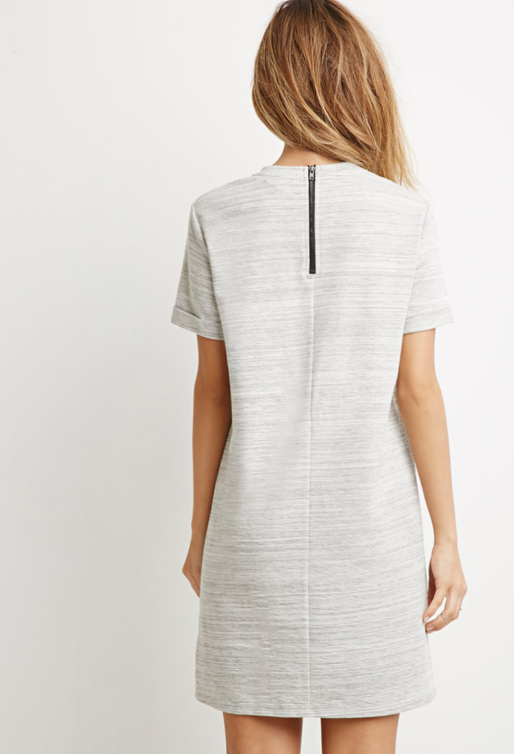 a1b7e75bb7 Forever 21 Marled Knit T-shirt Dress in Gray - Lyst