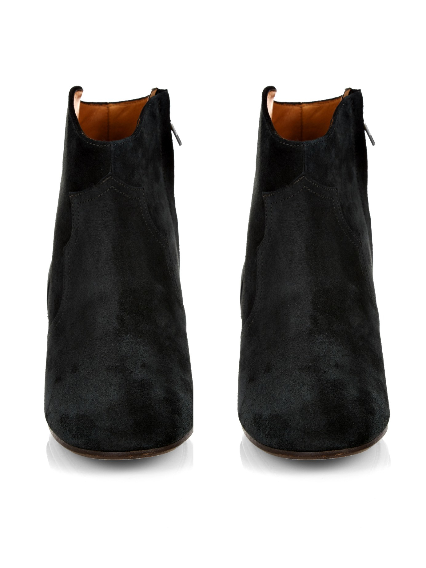 isabel marant toile dicker suede boots in black. Black Bedroom Furniture Sets. Home Design Ideas