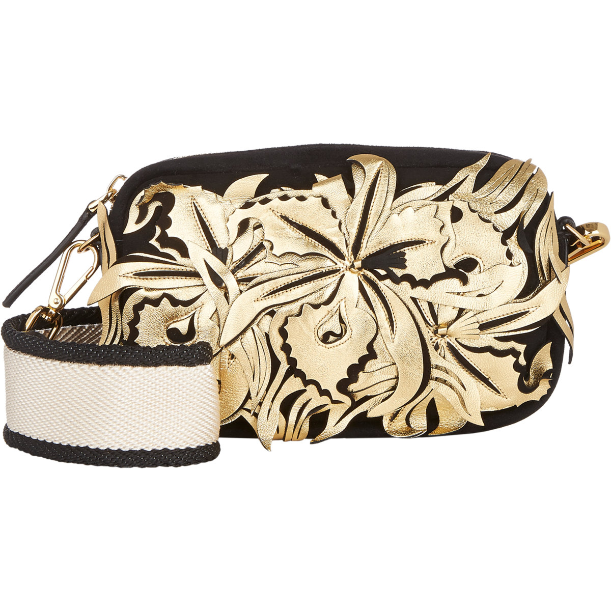 Marni Flower Applique Camera Bag In Metallic | Lyst