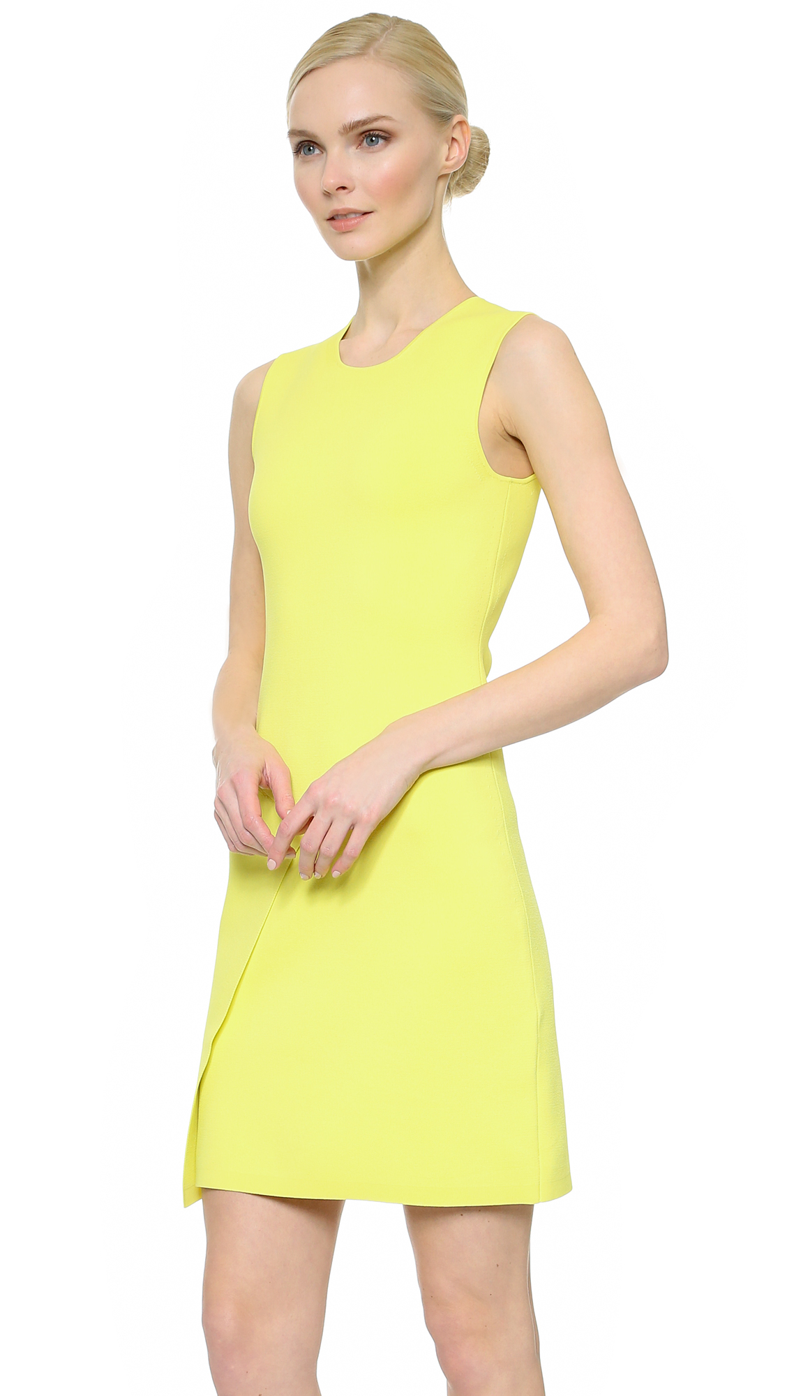 Narciso rodriguez Sleeveless Dress - Neon Yellow in Yellow ...