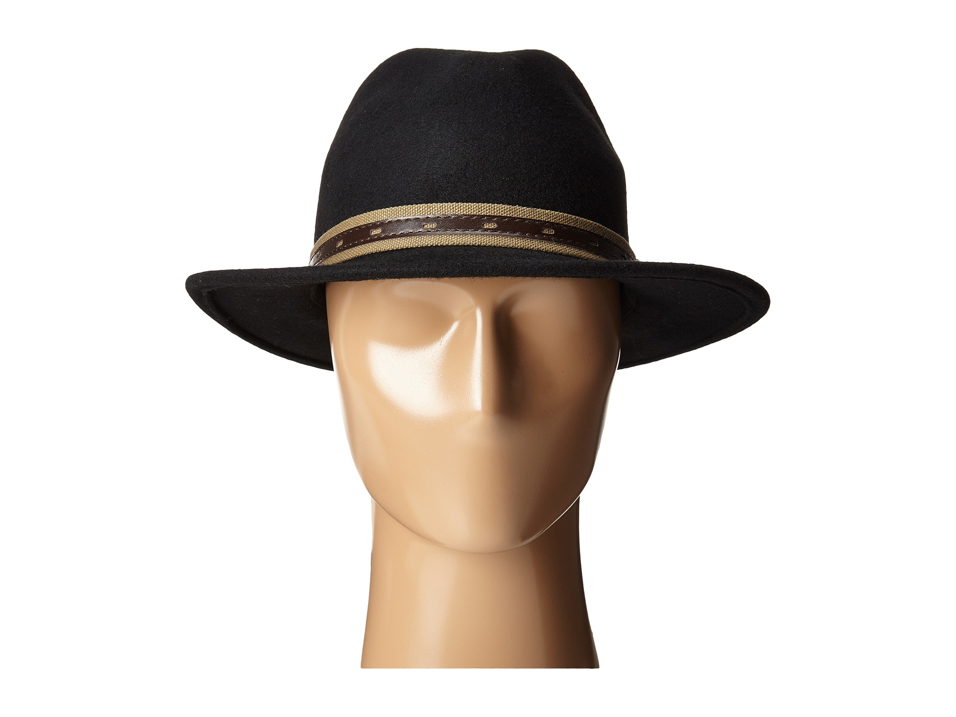 241a3e9d216 Lyst - San Diego Hat Company Wfh7952 Fedora With Faux Leather Band ...