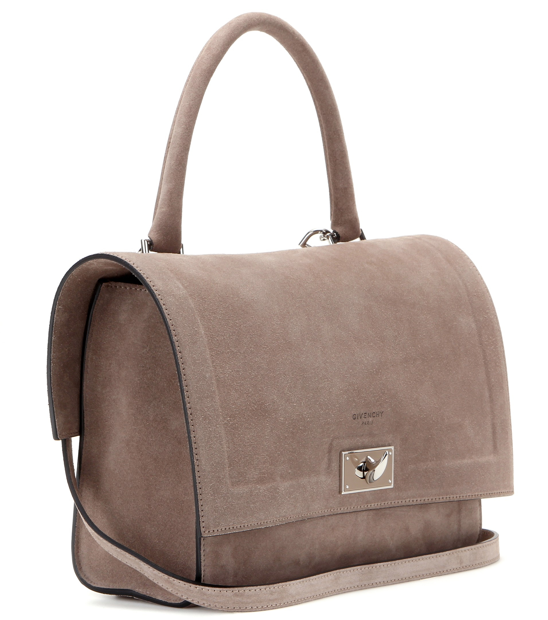 b171a6889a Lyst - Givenchy Shark Small Suede Shoulder Bag in Natural