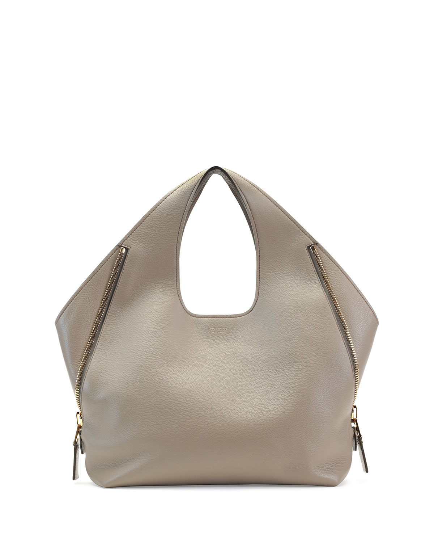 Lyst - Tom Ford Jennifer Side-Zip Leather Hobo Bag in Brown 55b5a81818ec8
