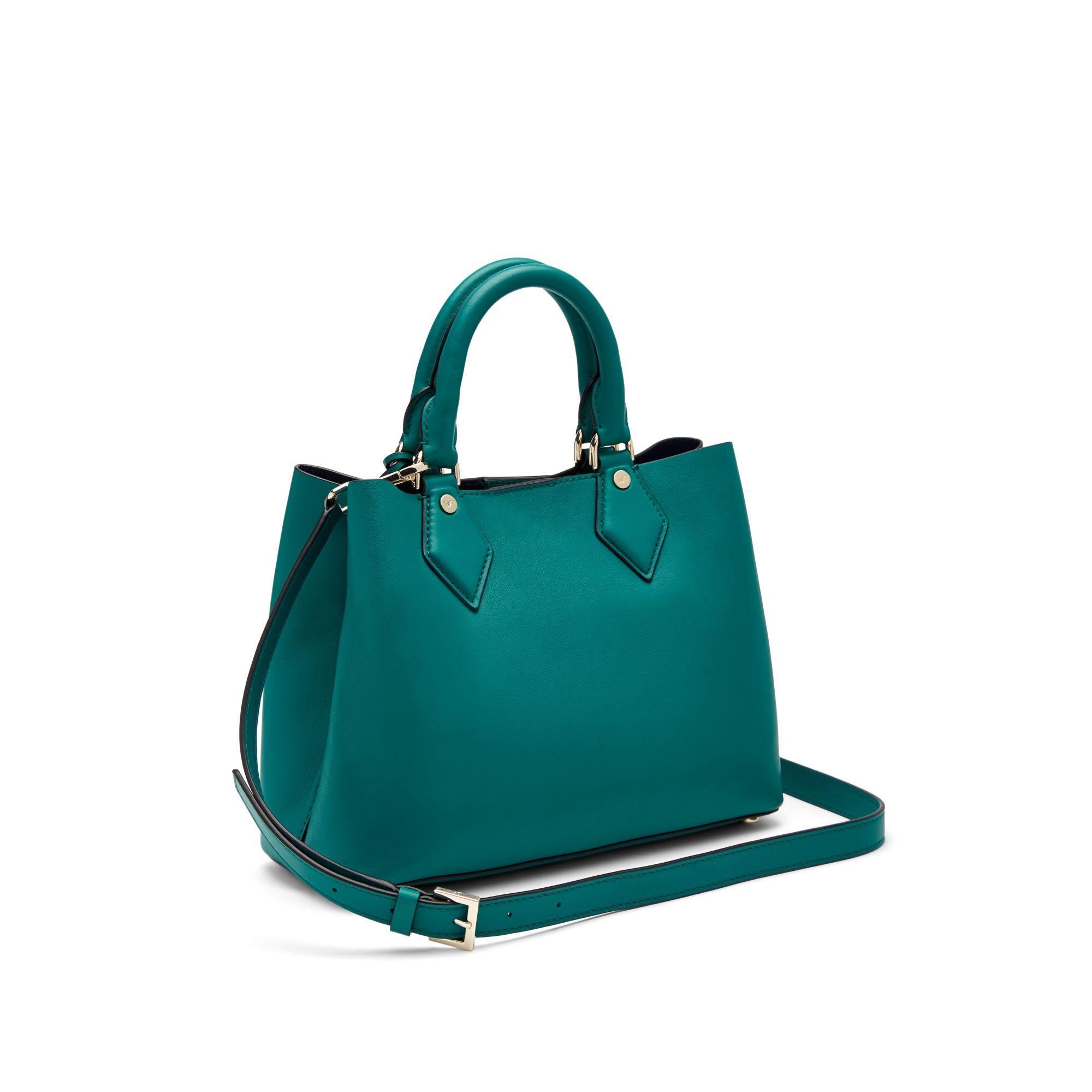 12b1503f80a01 Lyst - Diane von Furstenberg Voyage Small Bonded Leather Carryall ...