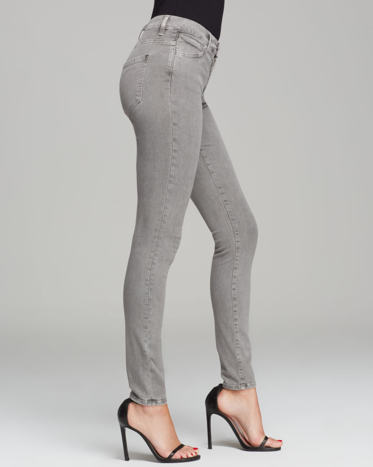 85ec5441dddf Lyst - Koral Jeans High Rise Skinny in Pebble Coated Grey in Gray