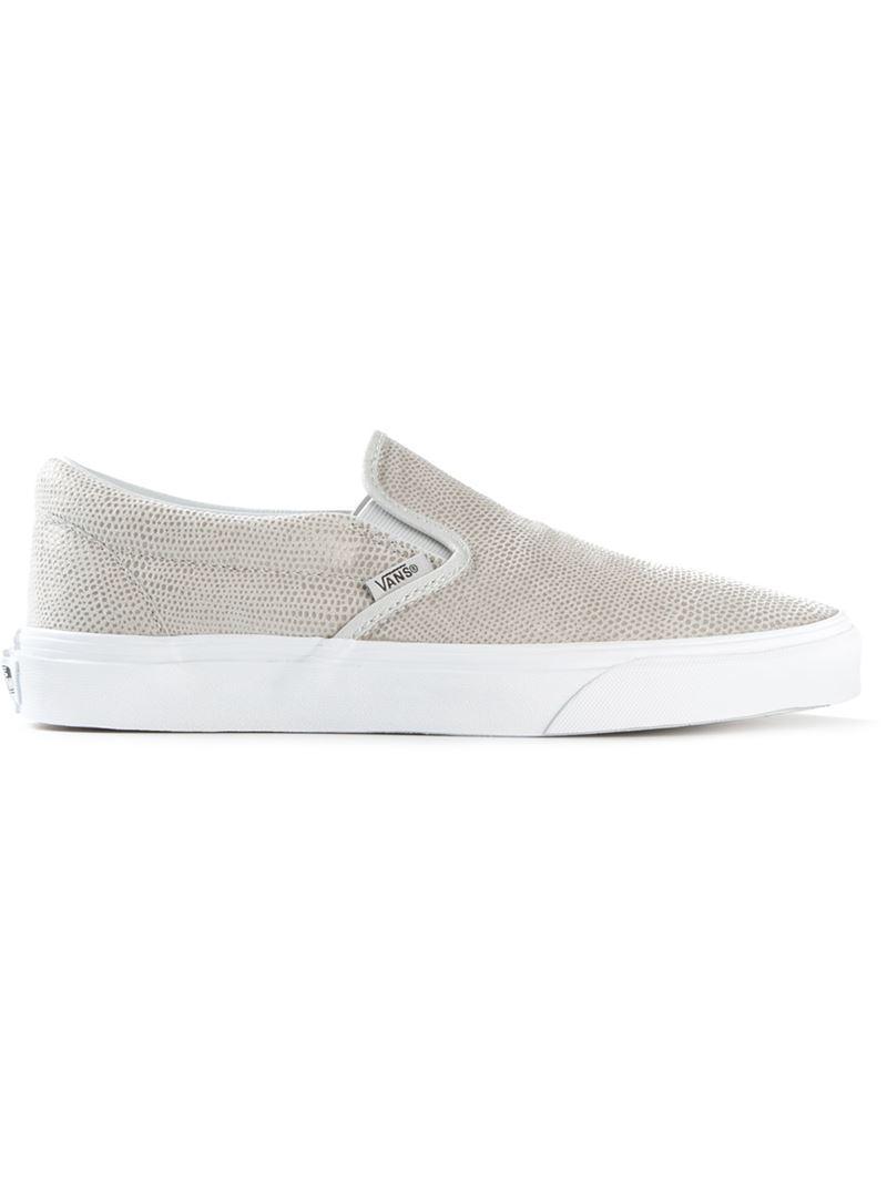 23e1fb0faf Lyst - Vans Pebble Snake Slip-On Sneakers in Gray
