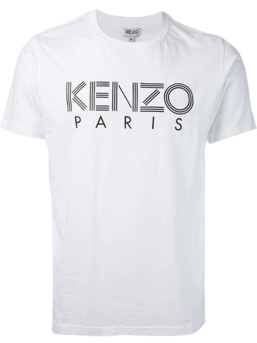 cb18da5d KENZO ' Paris' T-Shirt in White for Men - Lyst