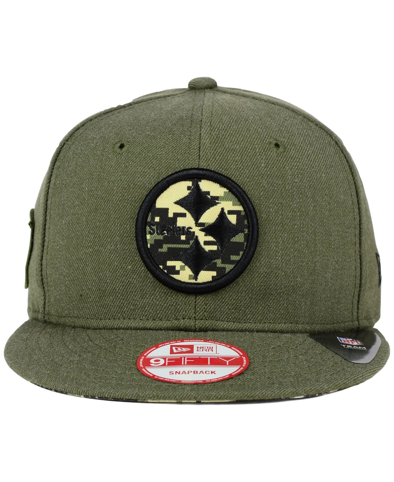 8620409e1c2 Lyst - Ktz Pittsburgh Steelers Camo 9fifty Snapback Cap in Green for Men