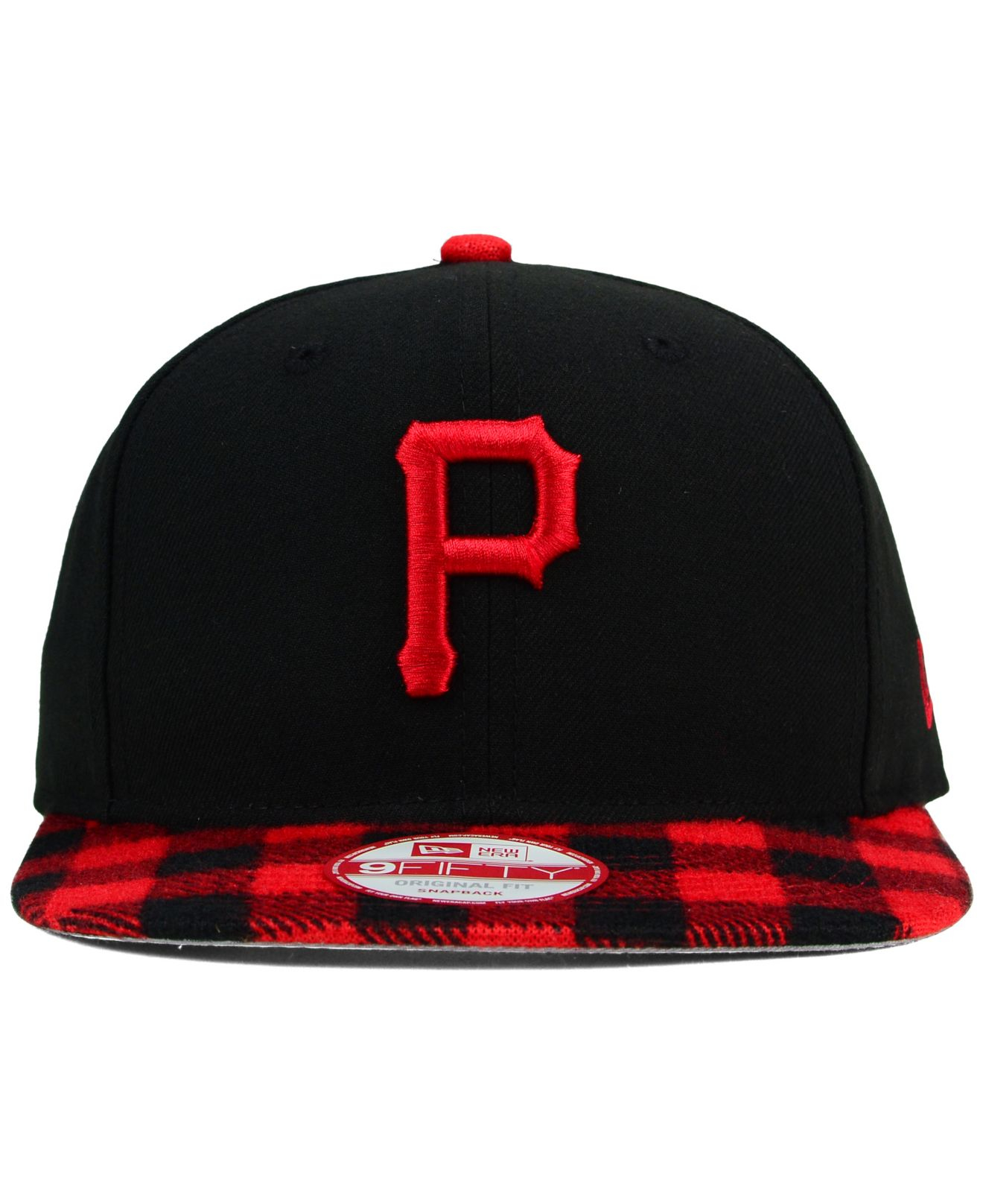 30c39535096 Lyst - Ktz Pittsburgh Pirates Premium Plaid 9fifty Snapback Cap in ...