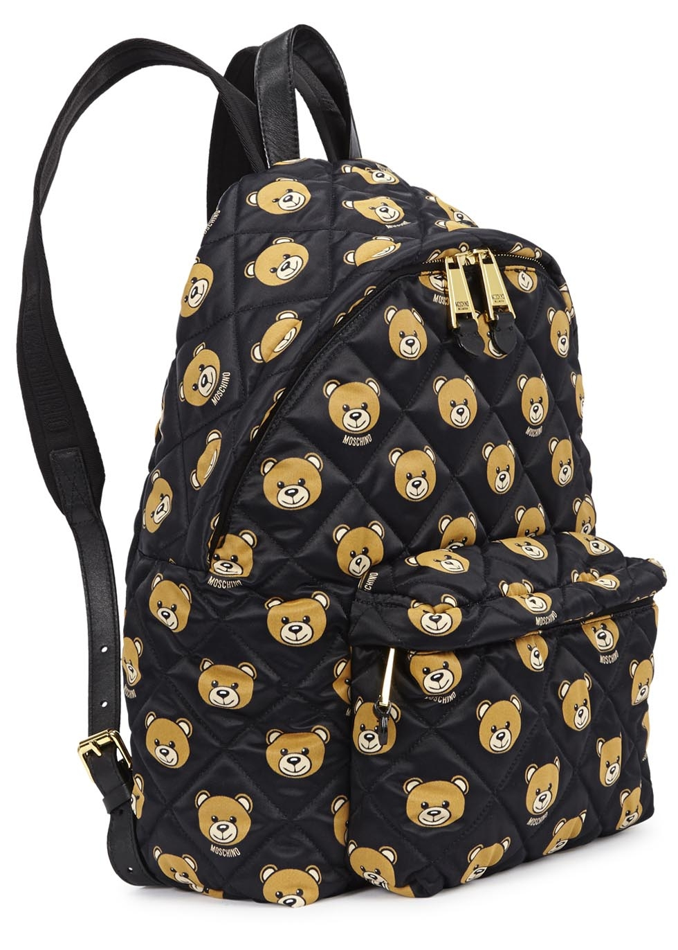 Moschino Quilted Teddy Bear Printed Backpack In Black Lyst