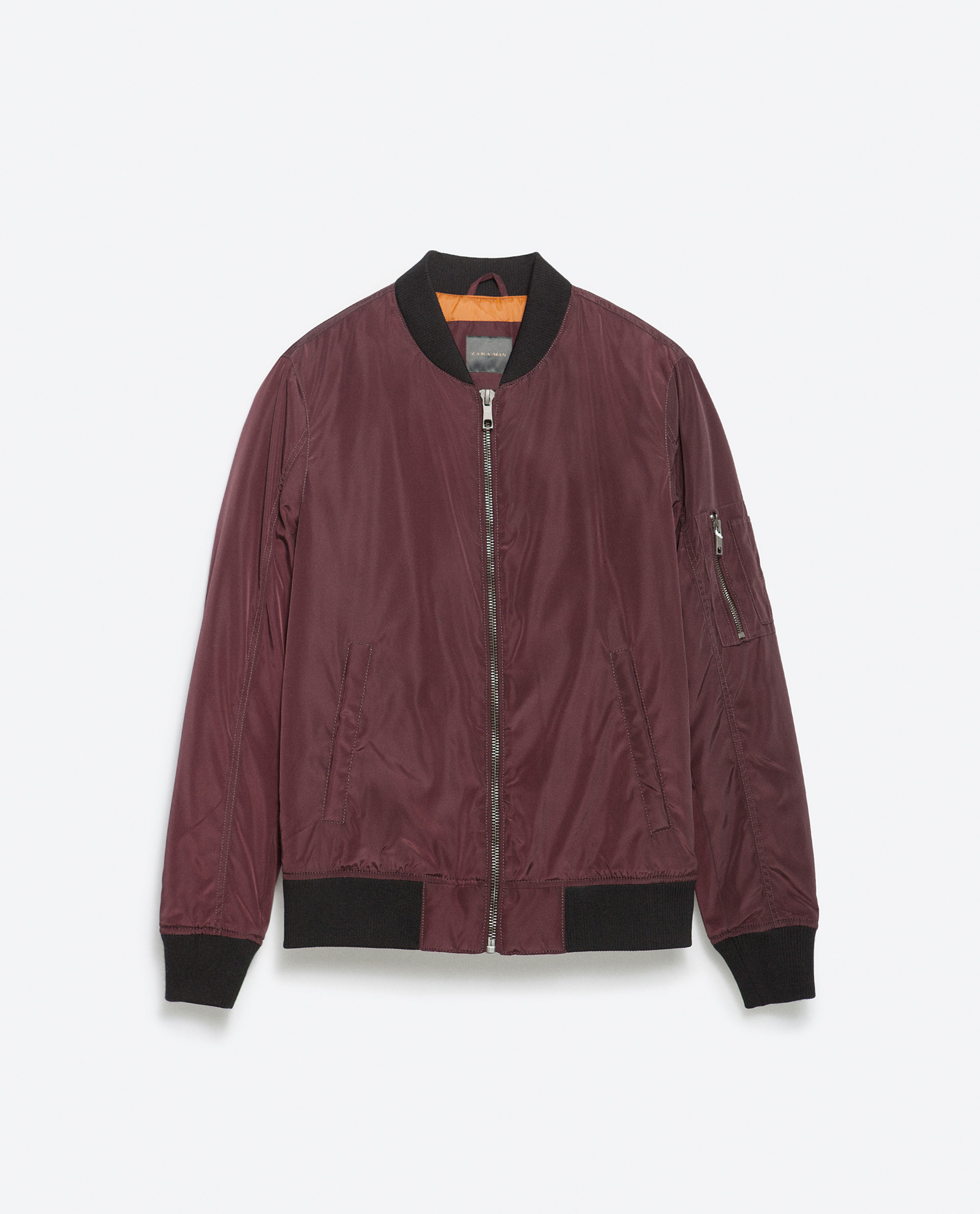 Zara Bomber Jacket With Quilted Lining in Purple for Men | Lyst